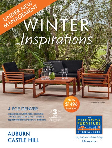 the outdoor furniture specialists mentone summer inspirations catalogue winter inspirations auburn u0026 castle hill - Furniture Specialist