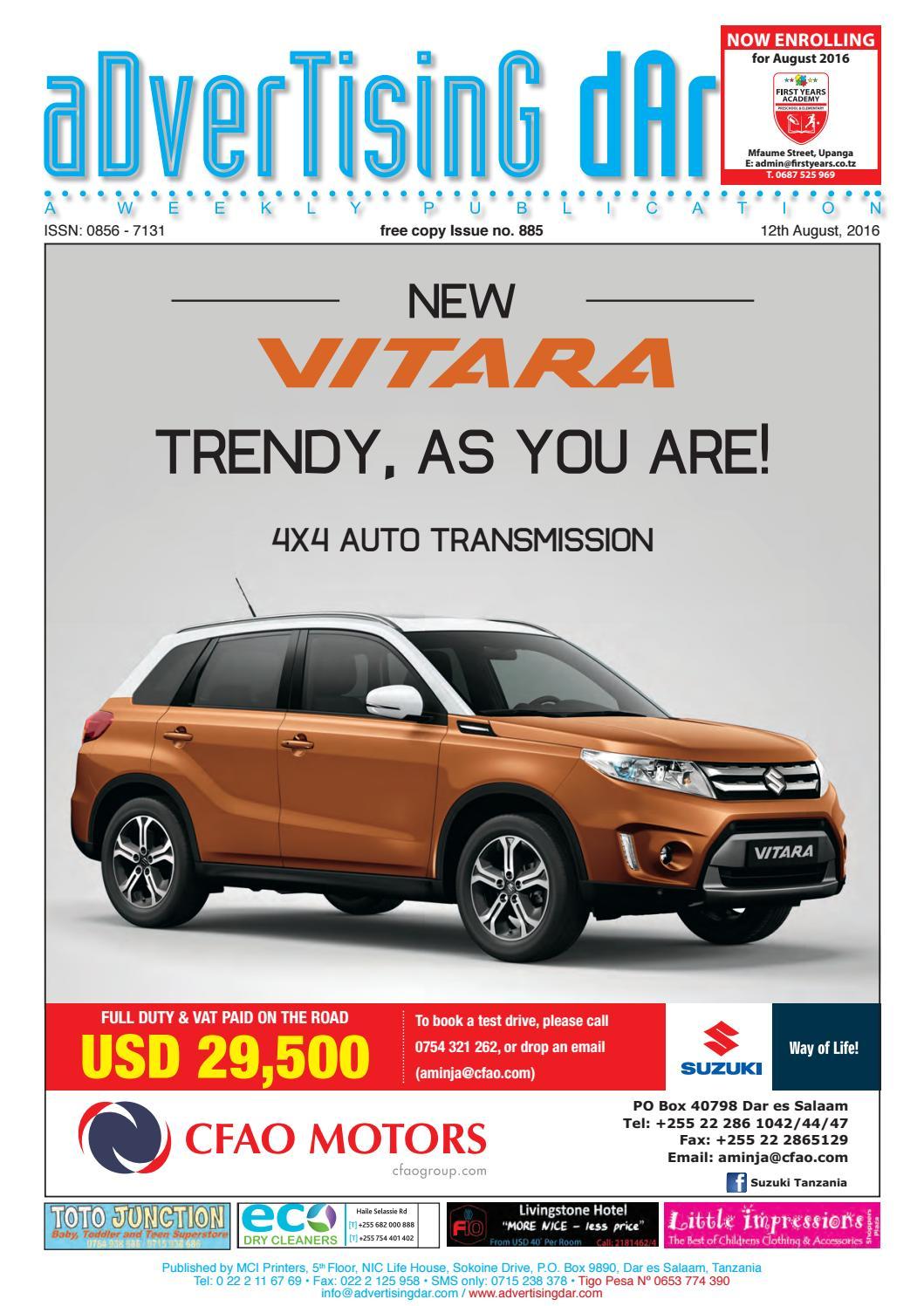 Advertising Dar Issue Nº 885 - 12th August 2016 by Advertising Dar ... d6b4bfb2f3