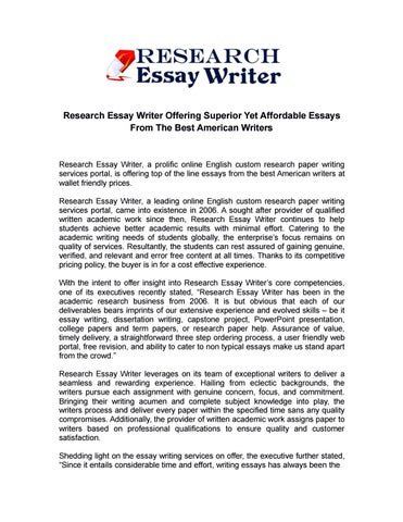 Essay For Students Of High School  Essay About High School also Narrative Essay Sample Papers Research Essay Writer Offering Superior Yet Affordable  How To Write An Essay For High School Students