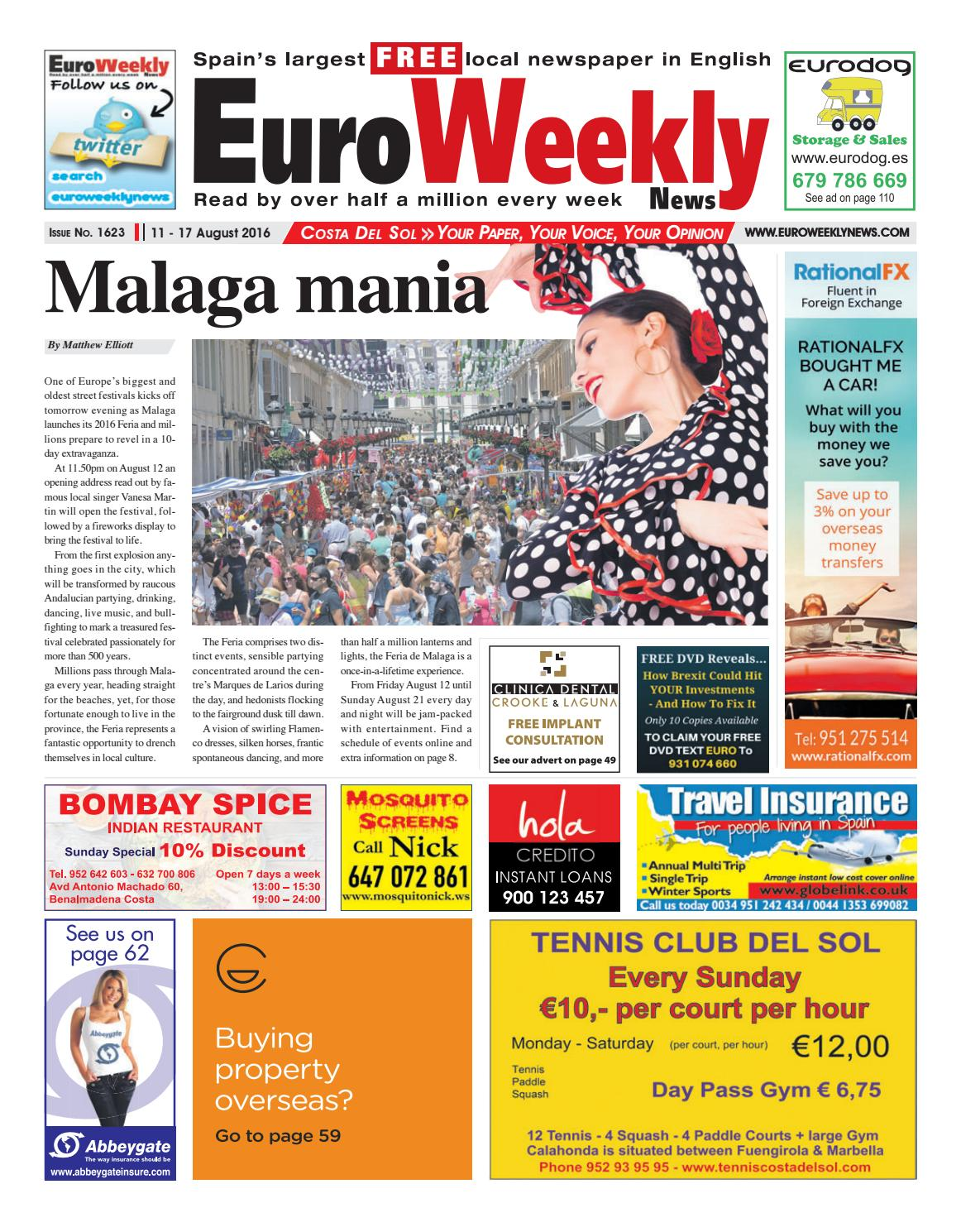 Euro Weekly News - Costa del Sol 11 - 17 August 2016 Issue ...