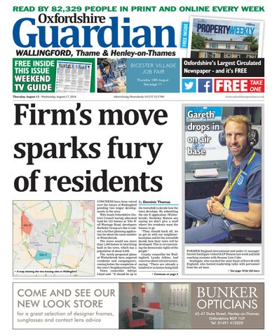 11 August 2016 Oxfordshire Guardian Wallingford By Taylor Newspapers