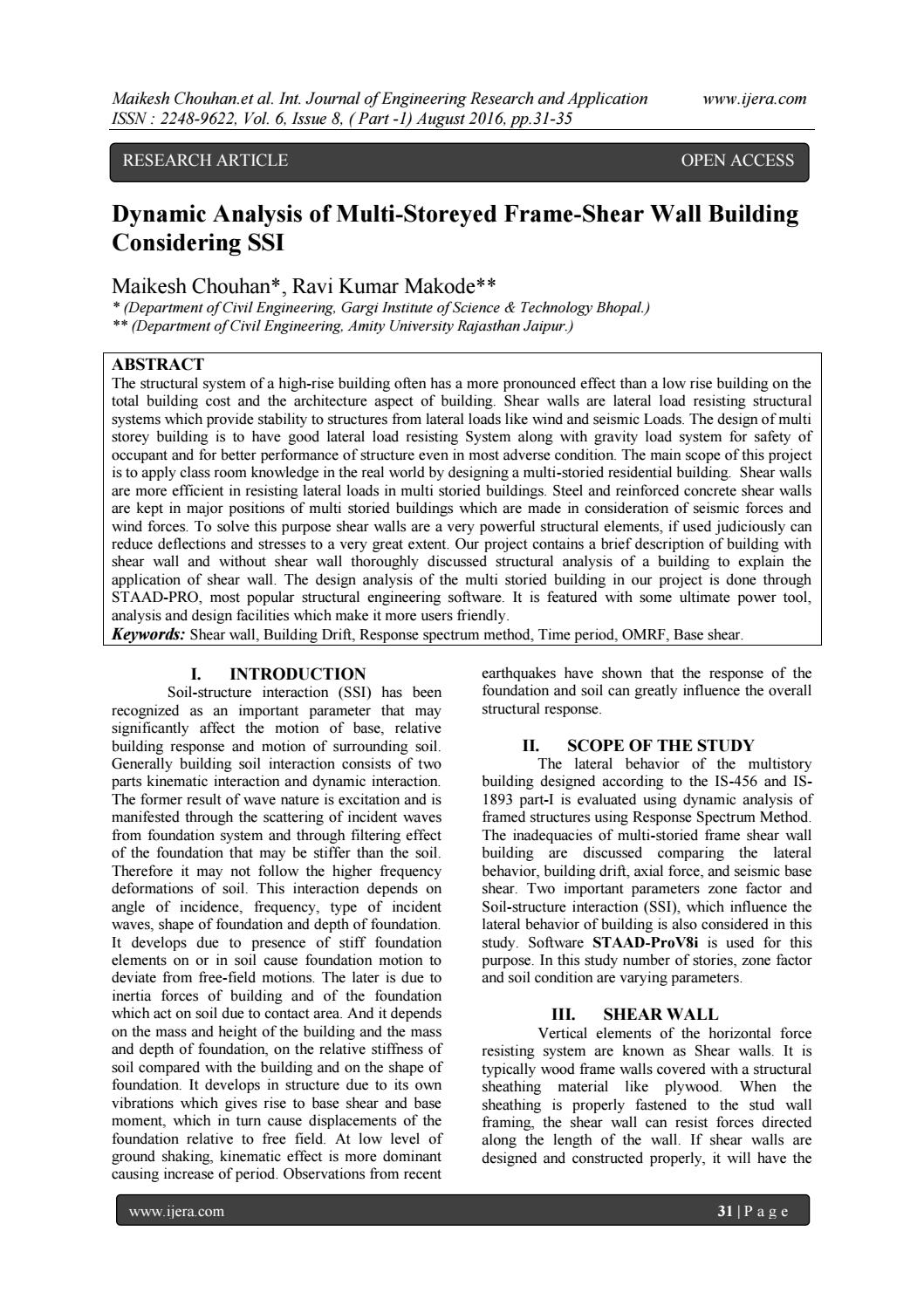 Design Of Shear Wall Using Is 13920