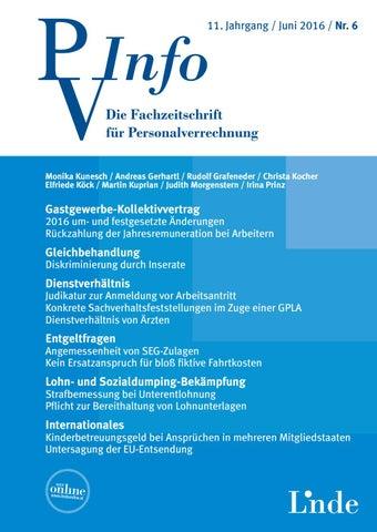 Pv Info Heft 62016 By Linde Verlag Gmbh Issuu