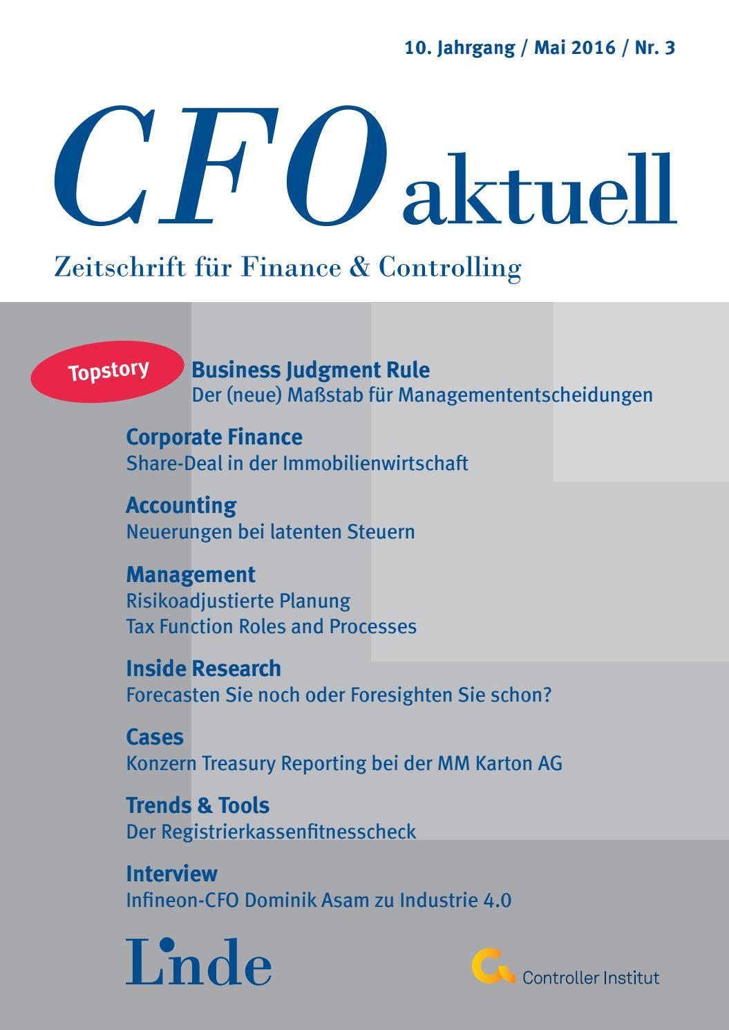 CFO aktuell - Heft 3/2016 by Linde Verlag GmbH - issuu