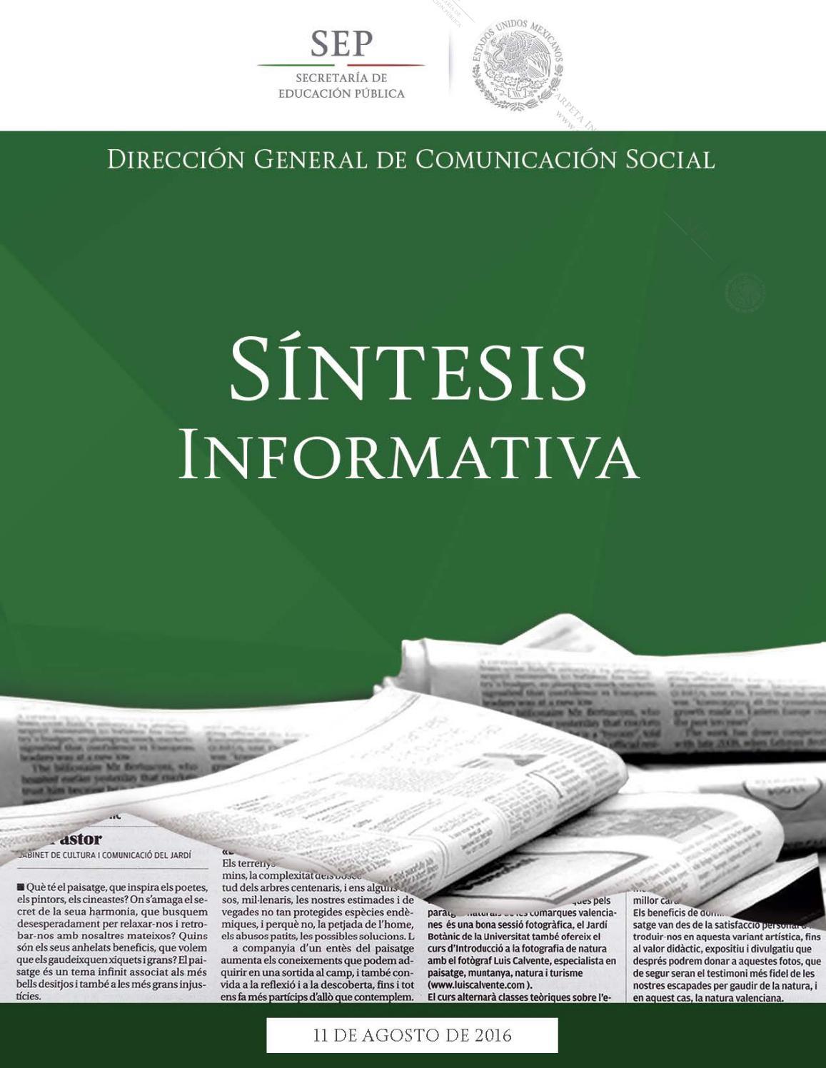 11 agosto 2016 by Secretaría de Educación Pública - issuu
