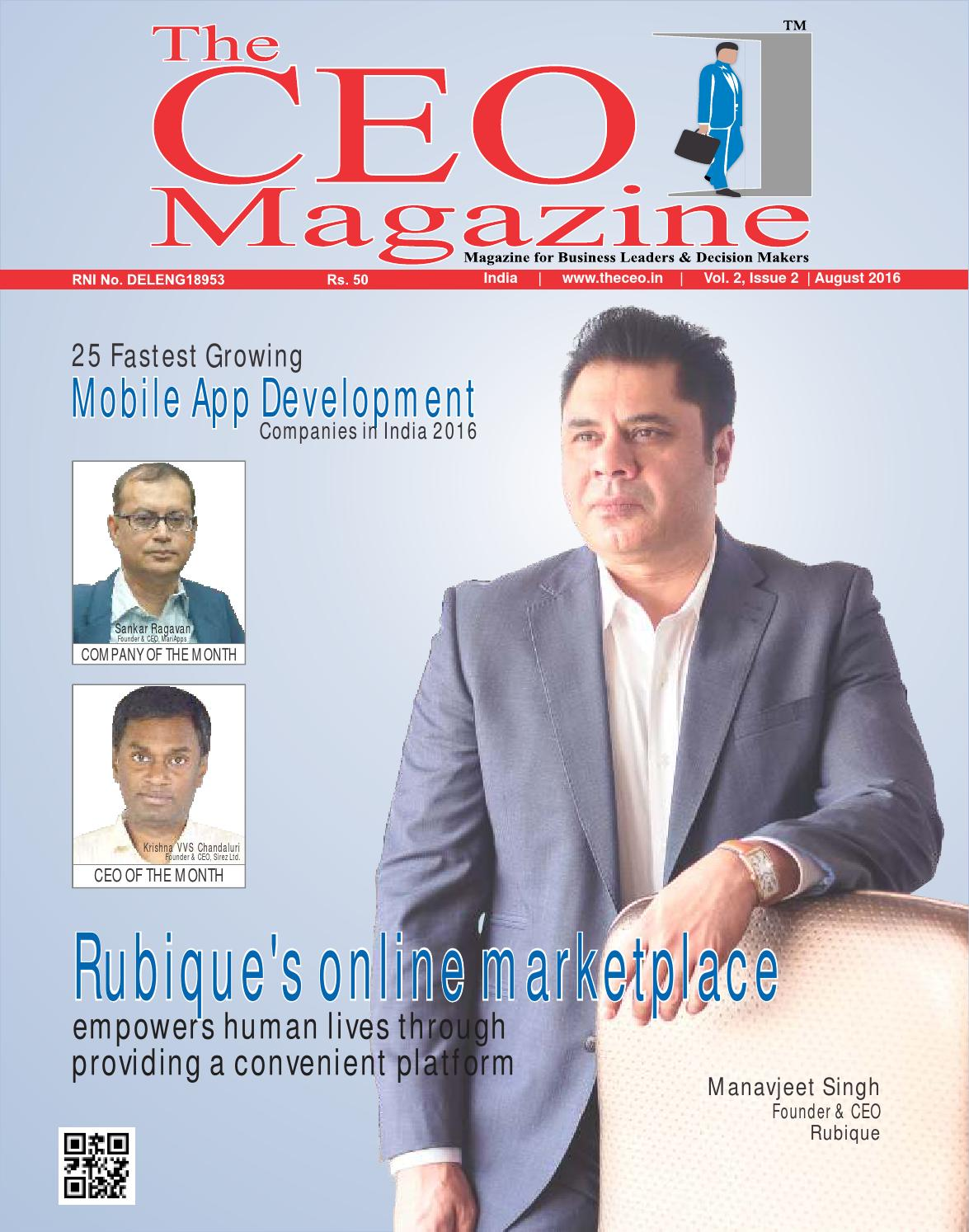 The ceo magazine august 2016 mobile app development by indiamanthan issuu