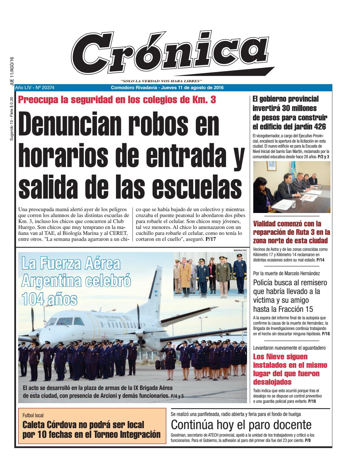7e18b659e C73c2f29163730c01d04175f97ea9abe by Diario Crónica - issuu