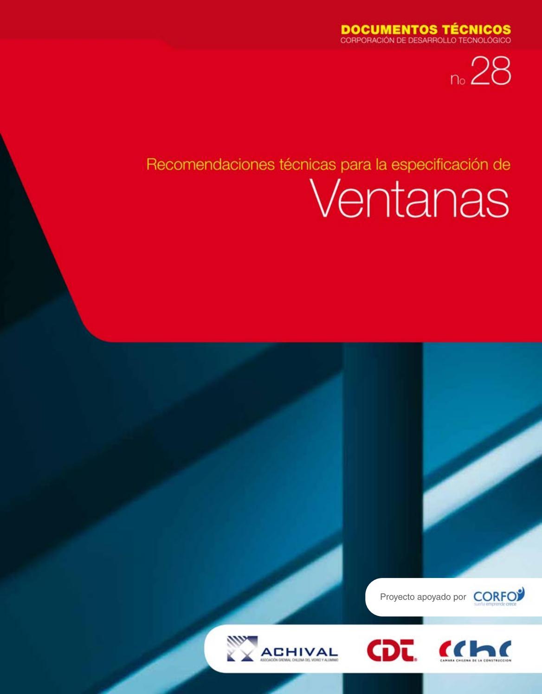 Recomendaciones técnicas para la especificación de ventanas by ...
