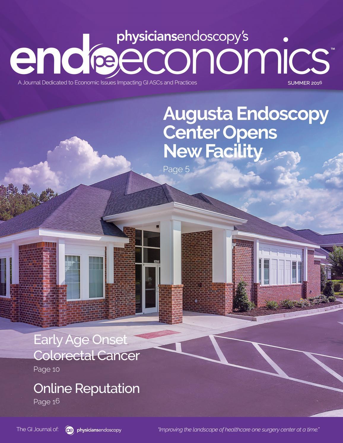 Endoscopy Suite: EndoEconomics Summer 2016 By Physicians Endoscopy, LLC