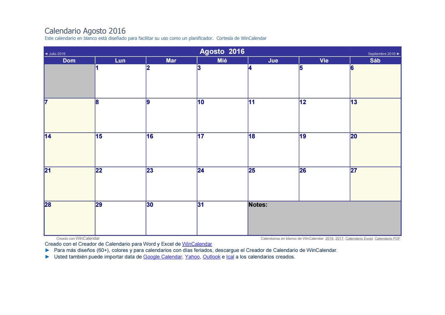 Calendario Con Excel.Calendario By Ariela Jacob Issuu