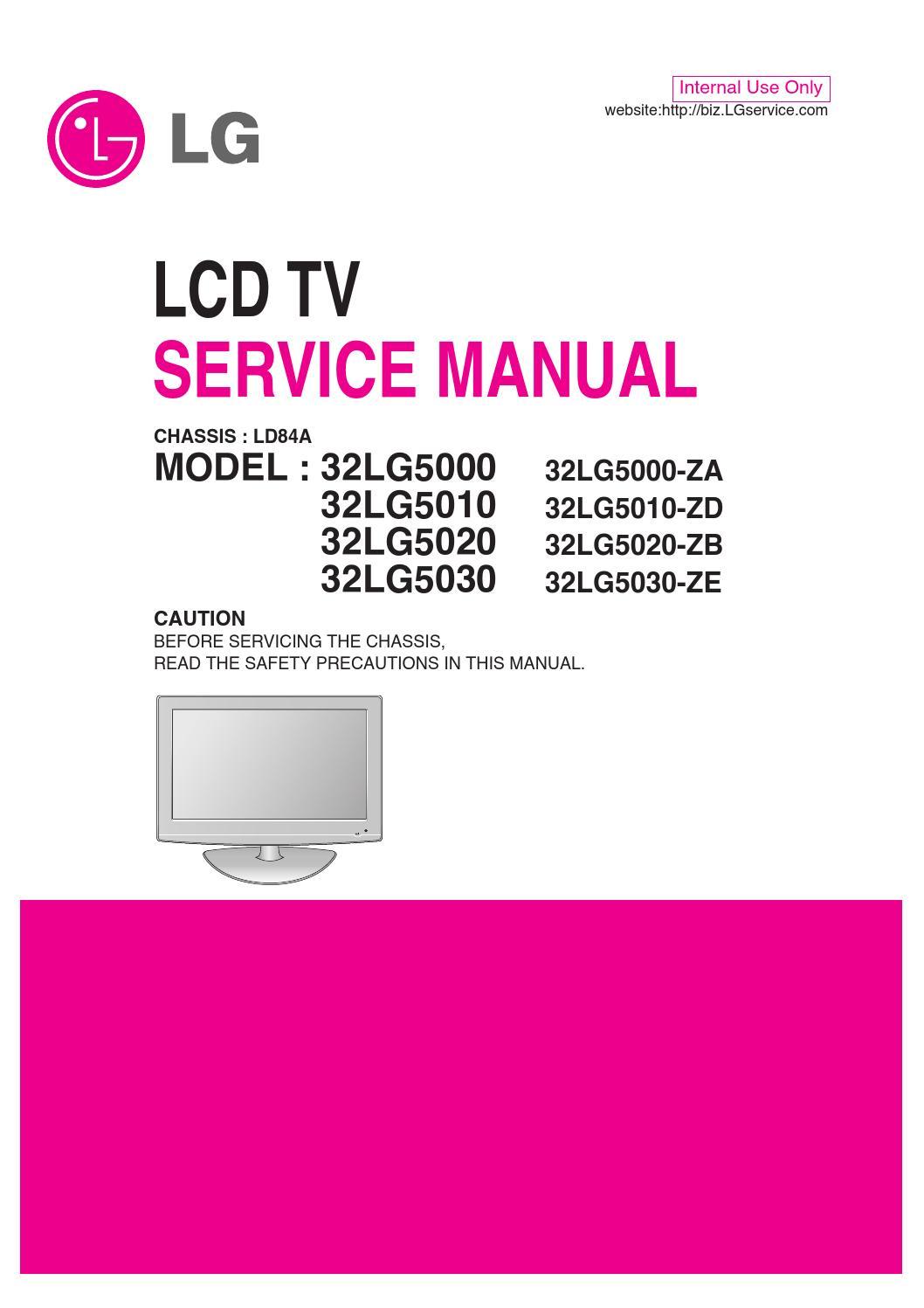 Manual De Servi U00e7o Televisor Lg 32lg5000