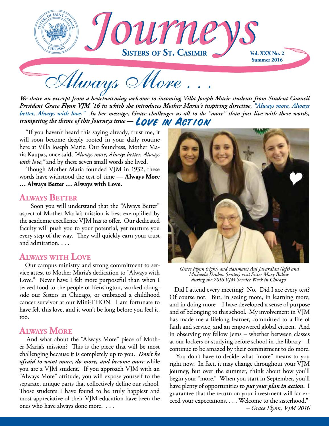 Great Journeys Summer 2016 By Sisters Of Saint Casimir   Issuu