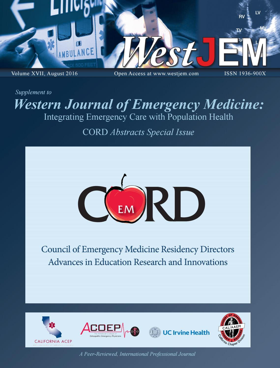 Volume 17 issue 4 supplement cord advances in education research volume 17 issue 4 supplement cord advances in education research and innovations by western journal of emergency medicine issuu malvernweather Images
