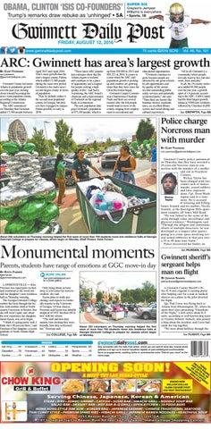 8ac4cf94 August 12, 2016 Gwinnett Daily Post by Gwinnett Daily Post - issuu