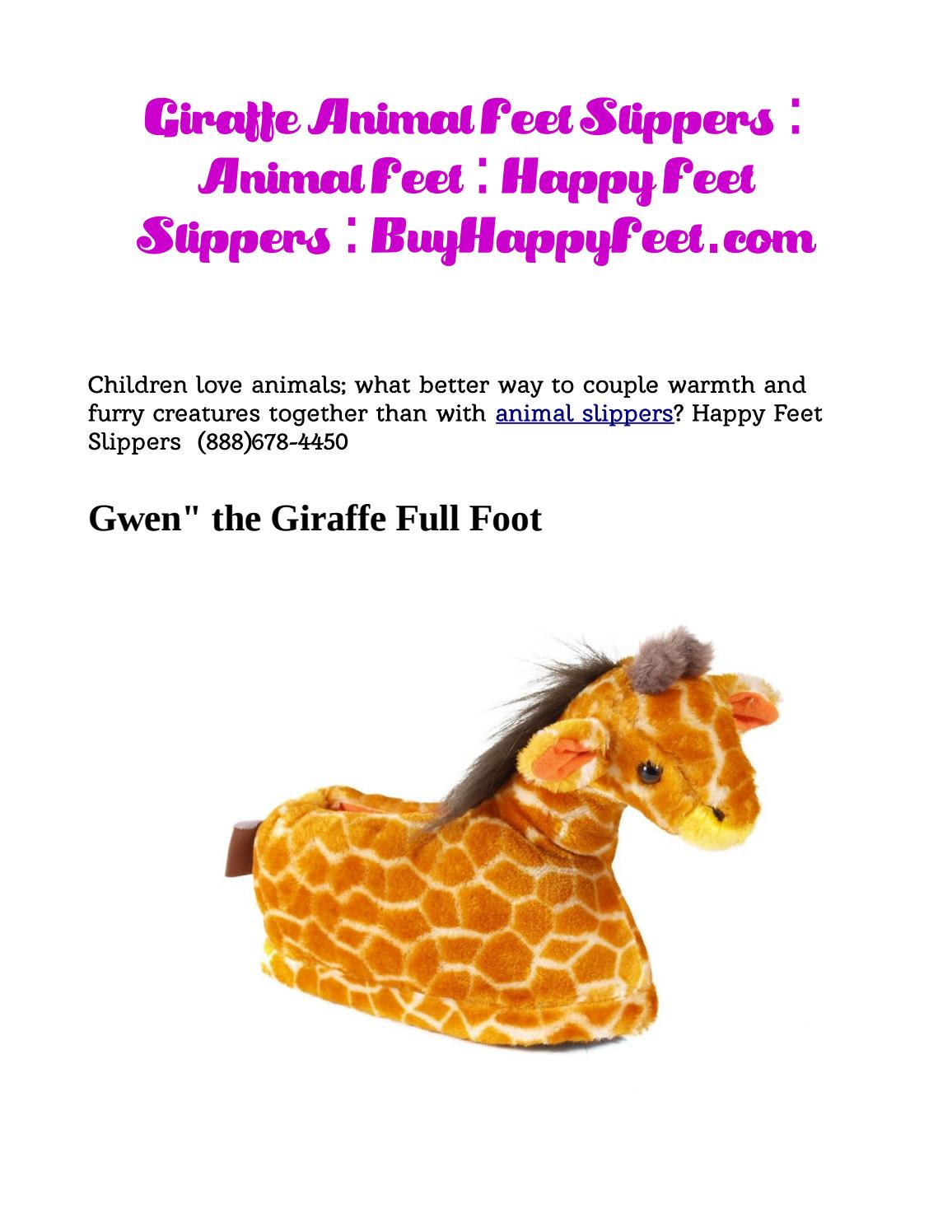 great deals 2017 most popular new arrive Animal slippers for kids, men and women: happy feet by Pat Yates ...