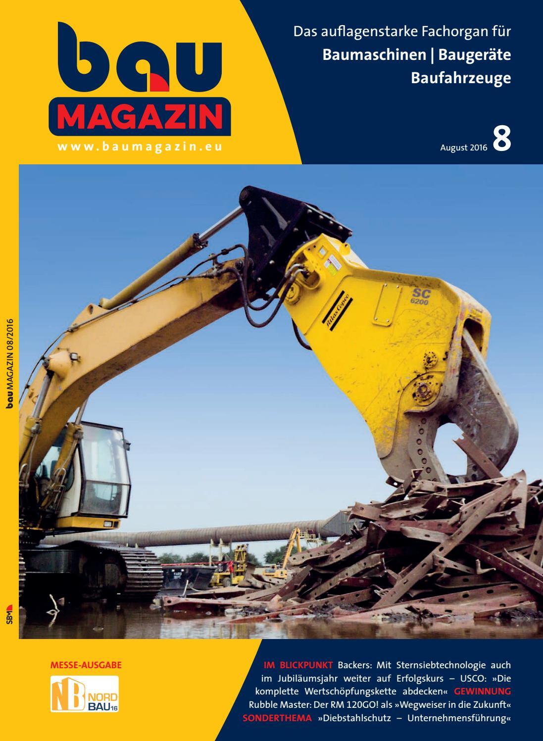 Baumagazin August 2016 by SBM Verlag GmbH - issuu