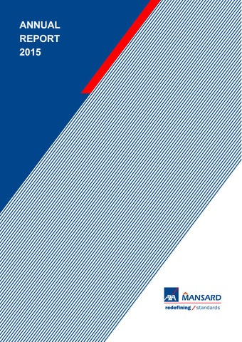 Axa Mansard 2015 Annual Report By Rotimi Soboyejo Issuu