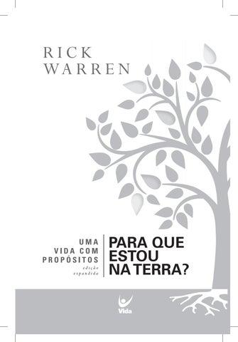 UMA COM PROPOSITO RICK WARREN LIVRO BAIXAR VIDA