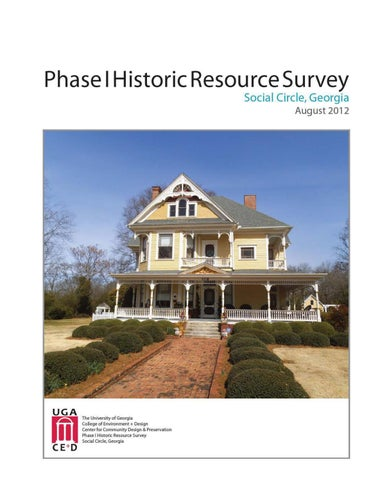 historic resource survey social circle ga by findit issuu credits report submitted to