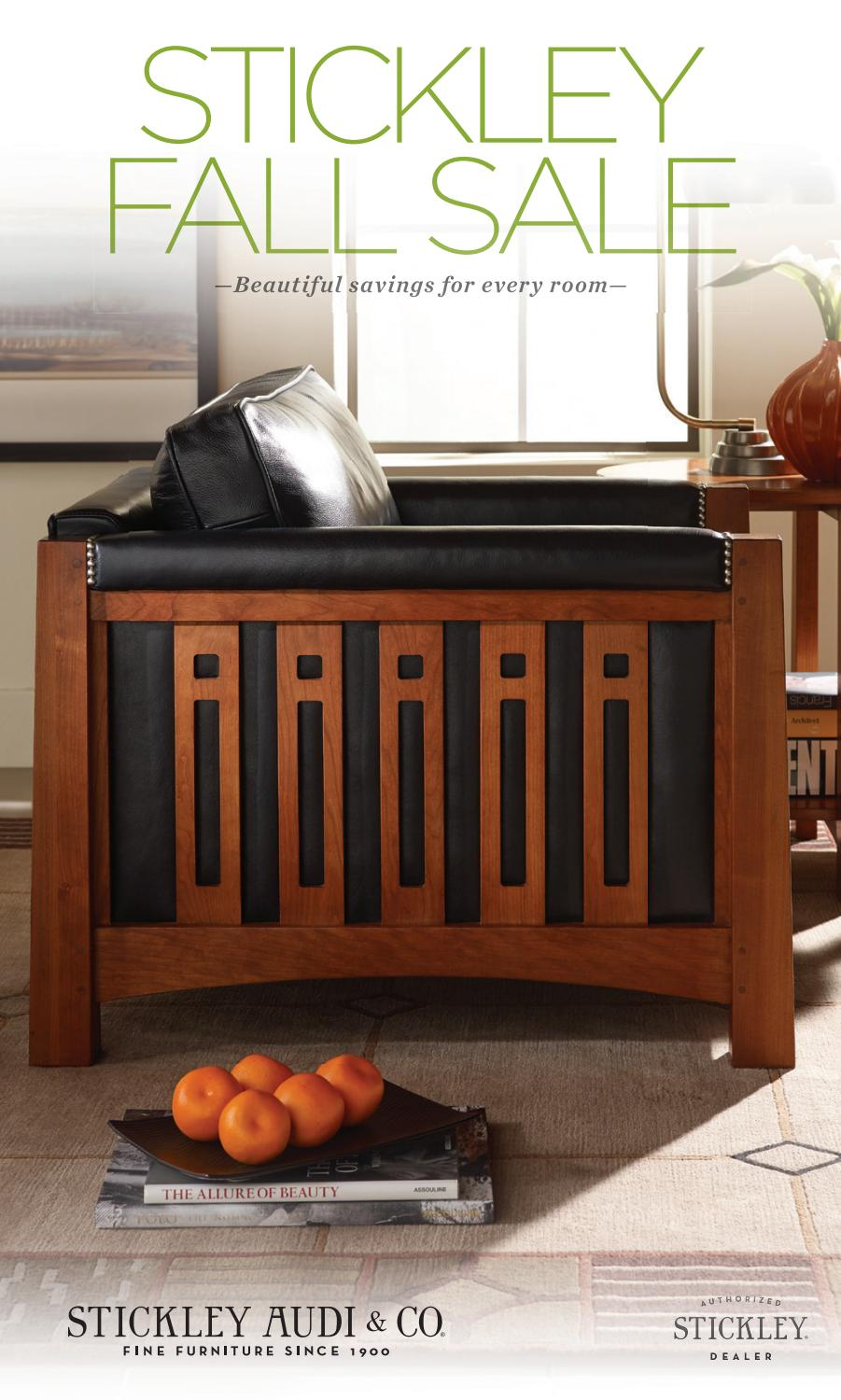 Stickley Audi Fall Sale By Stickley Issuu