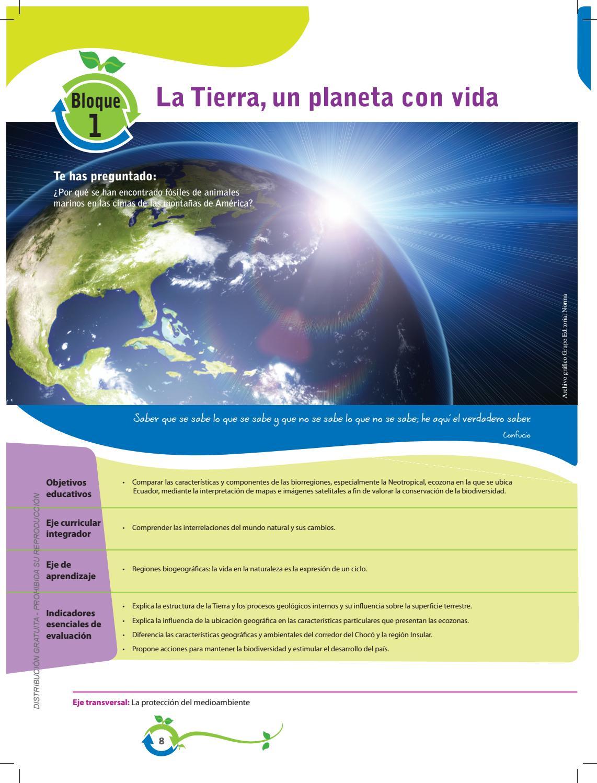 Bloque 1 La Tierra Un Planeta Con Vida By Ecosoft Issuu