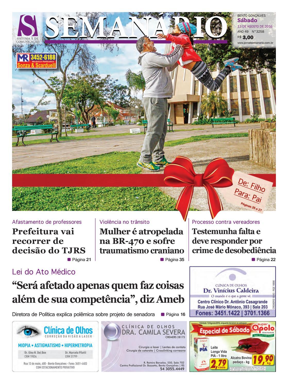 Jornal Semanário - 13 08 2016 - Edição 3258 by Jornal Semanário - Bento  Gonçalves - RS - issuu dd141d209d