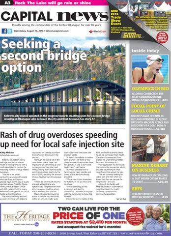 2ab59a5eb38a Page 1. A3. Rock The Lake will go rain or shine. CAPITAL news KELOWNA