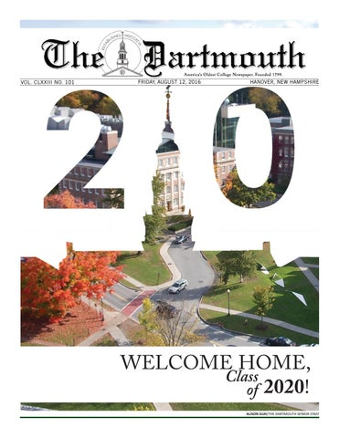 The Dartmouth Freshman Issue 2016 By Newspaper
