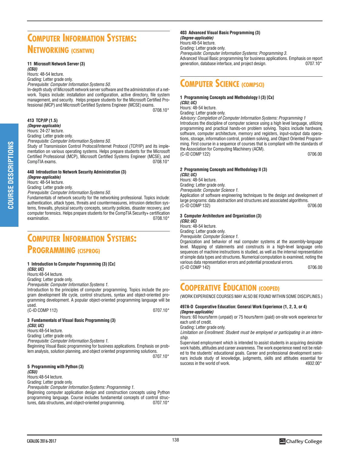 Chaffey College Catalog 2016 2017 By Chaffey College Issuu