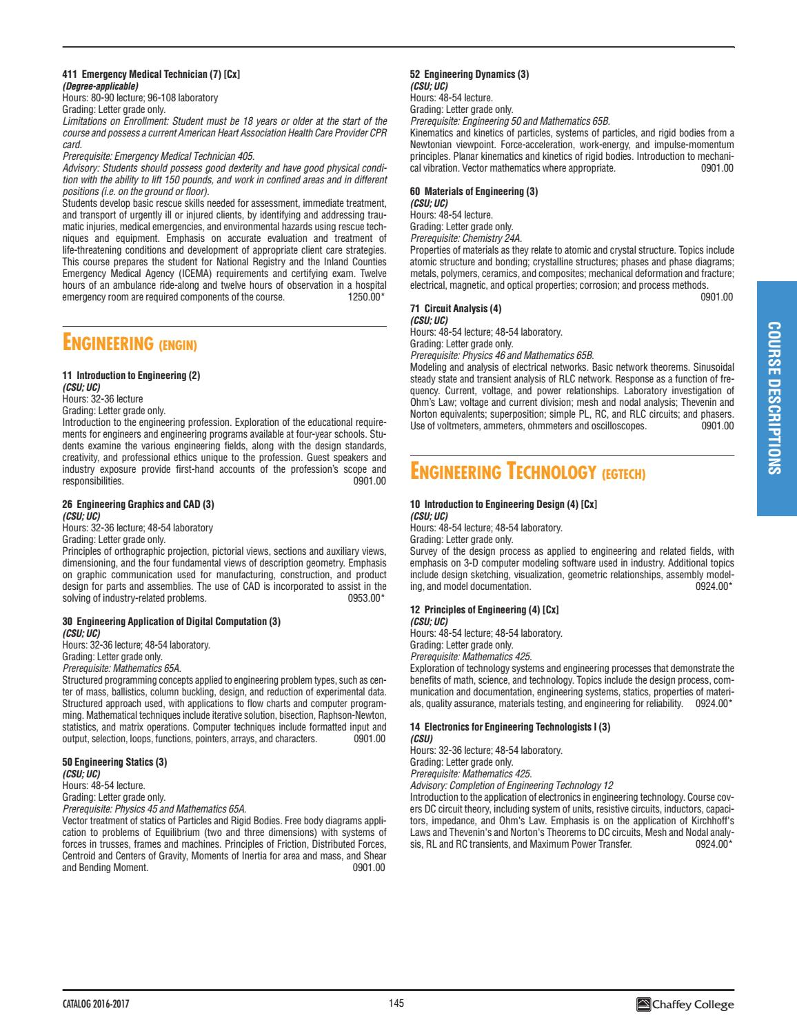 Chaffey College Catalog 2016 2017 By Issuu Home Images Free Body Diagram Statics