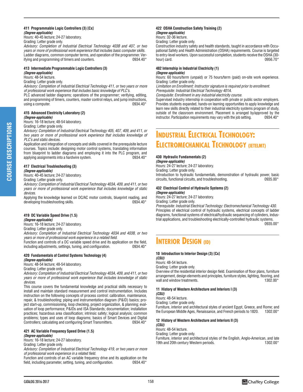 Chaffey College Catalog 2016 2017 by Chaffey College - issuu