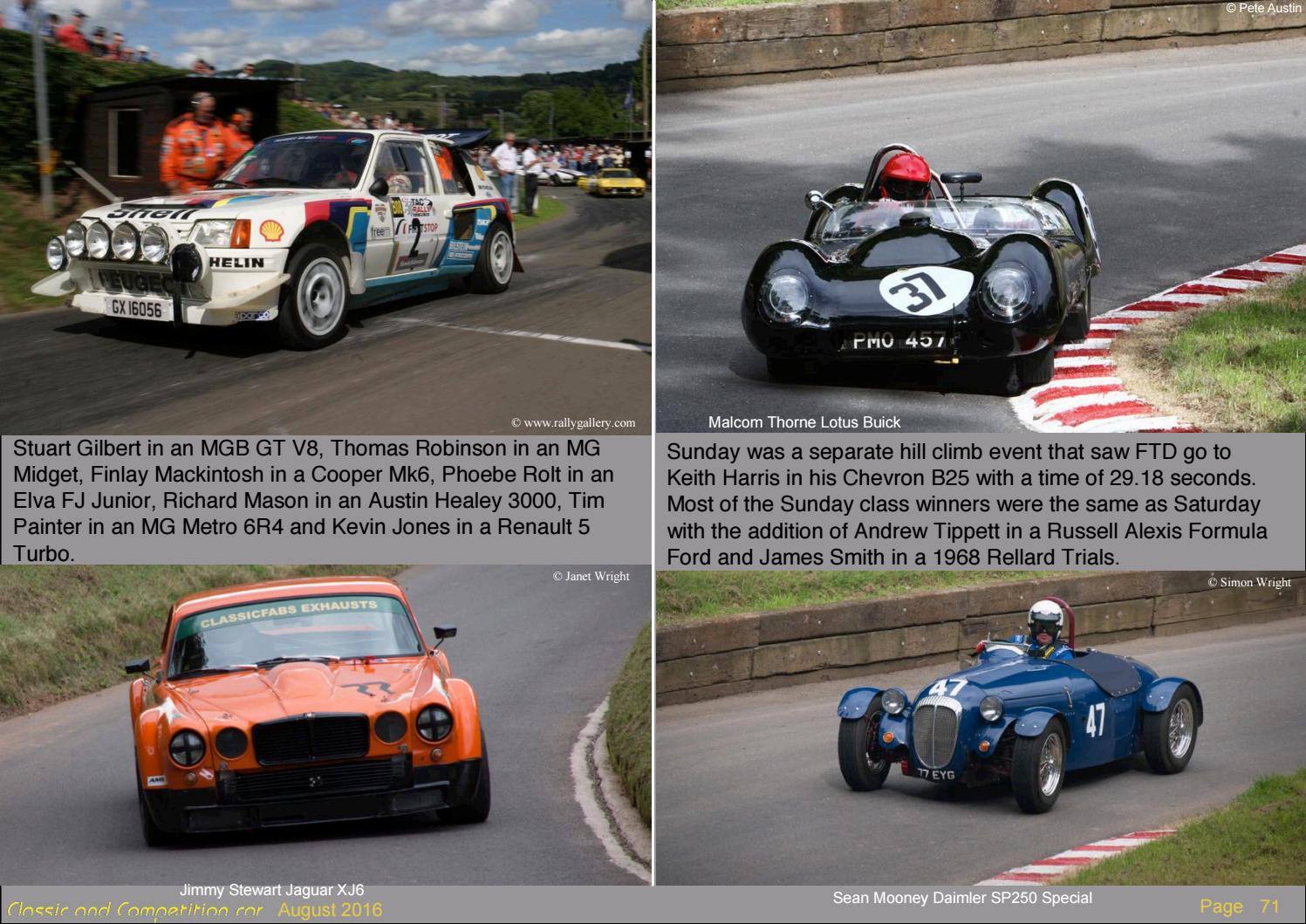 Classic and Competition car 71 August 2016 by Simon Wright - issuu