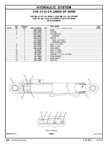 Parts Manual CAT TH220B Telehandler S/N TBF00100 thru TBF00512 #2 by