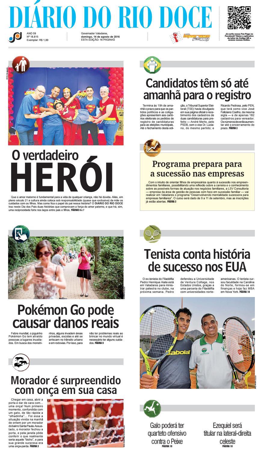 6aec686ff59 Diário do Rio Doce - Edição de 14 08 2016 by Diário do Rio Doce - issuu