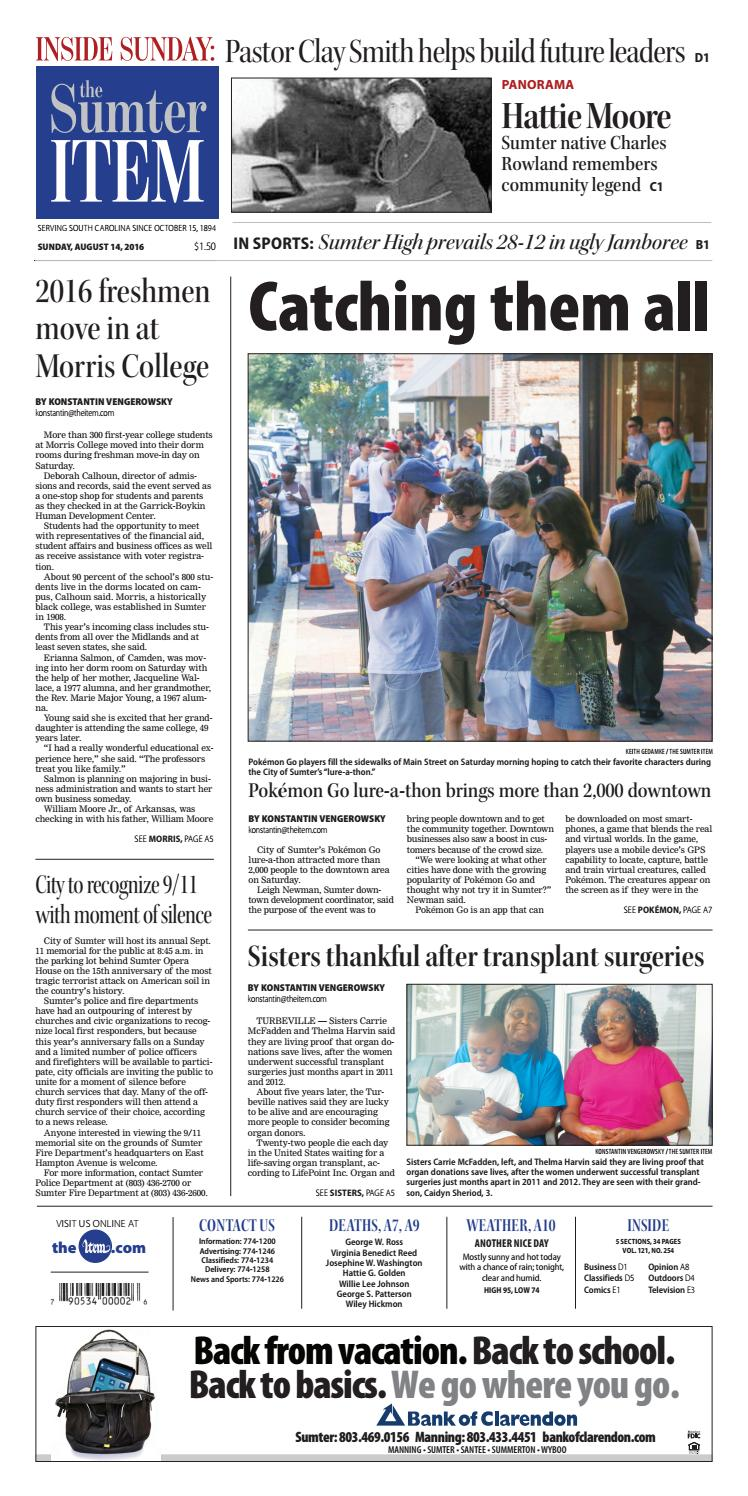 August 14, 2016 by The Sumter Item issuu