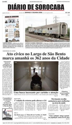 a4ff6f8c189d9 Edição de 14 de agosto de 2016 by DIÁRIO DE SOROCABA - issuu