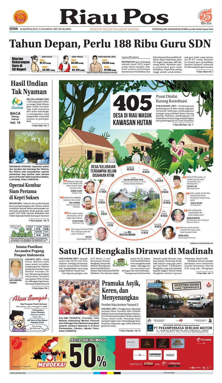 2016 08 15 By Riau Pos Issuu