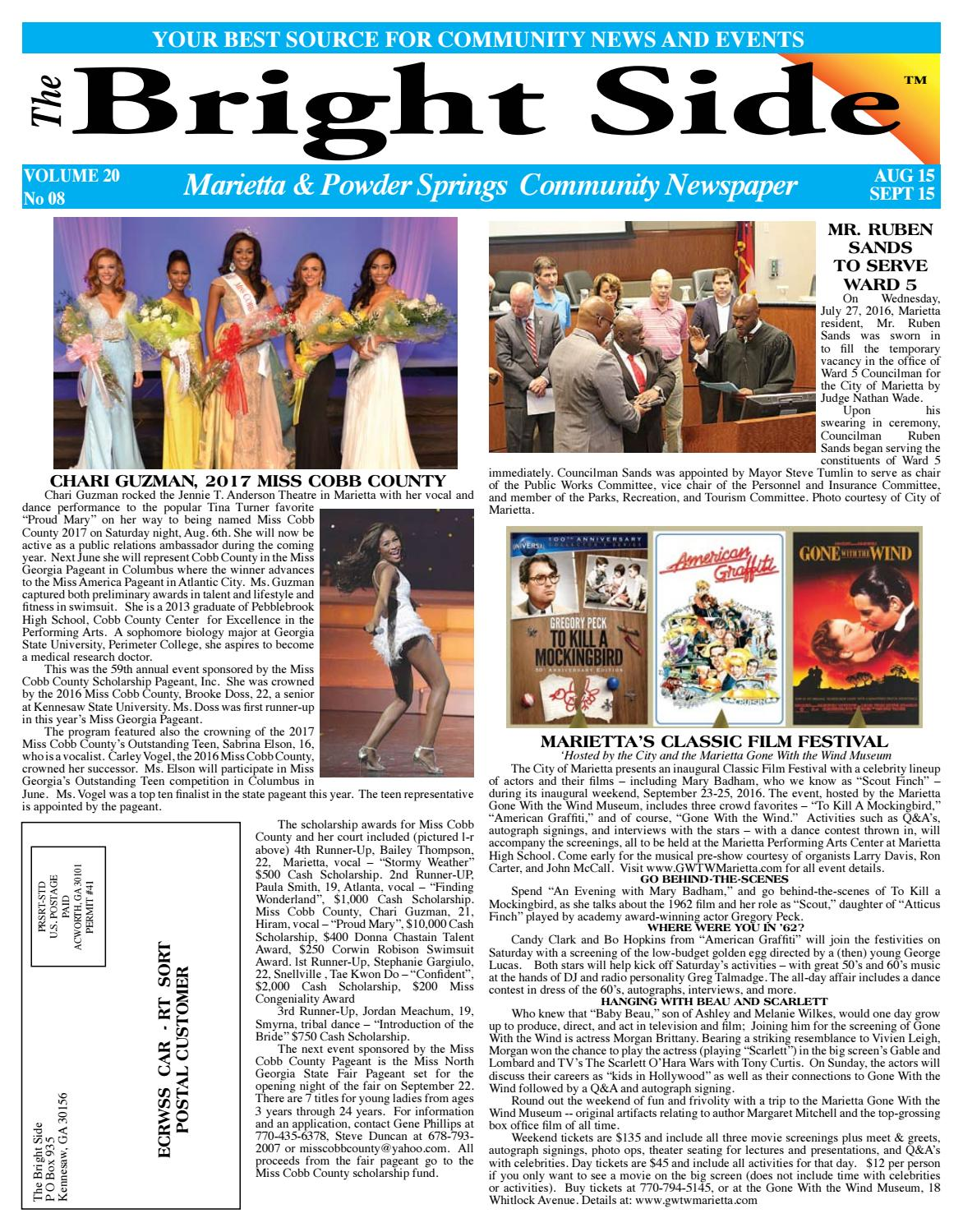 August 2016 mariettapowdersprings newspaper for cobb county by august 2016 mariettapowdersprings newspaper for cobb county by carol grigsby thompson publisher of the bright side community newspapers issuu 1betcityfo Images