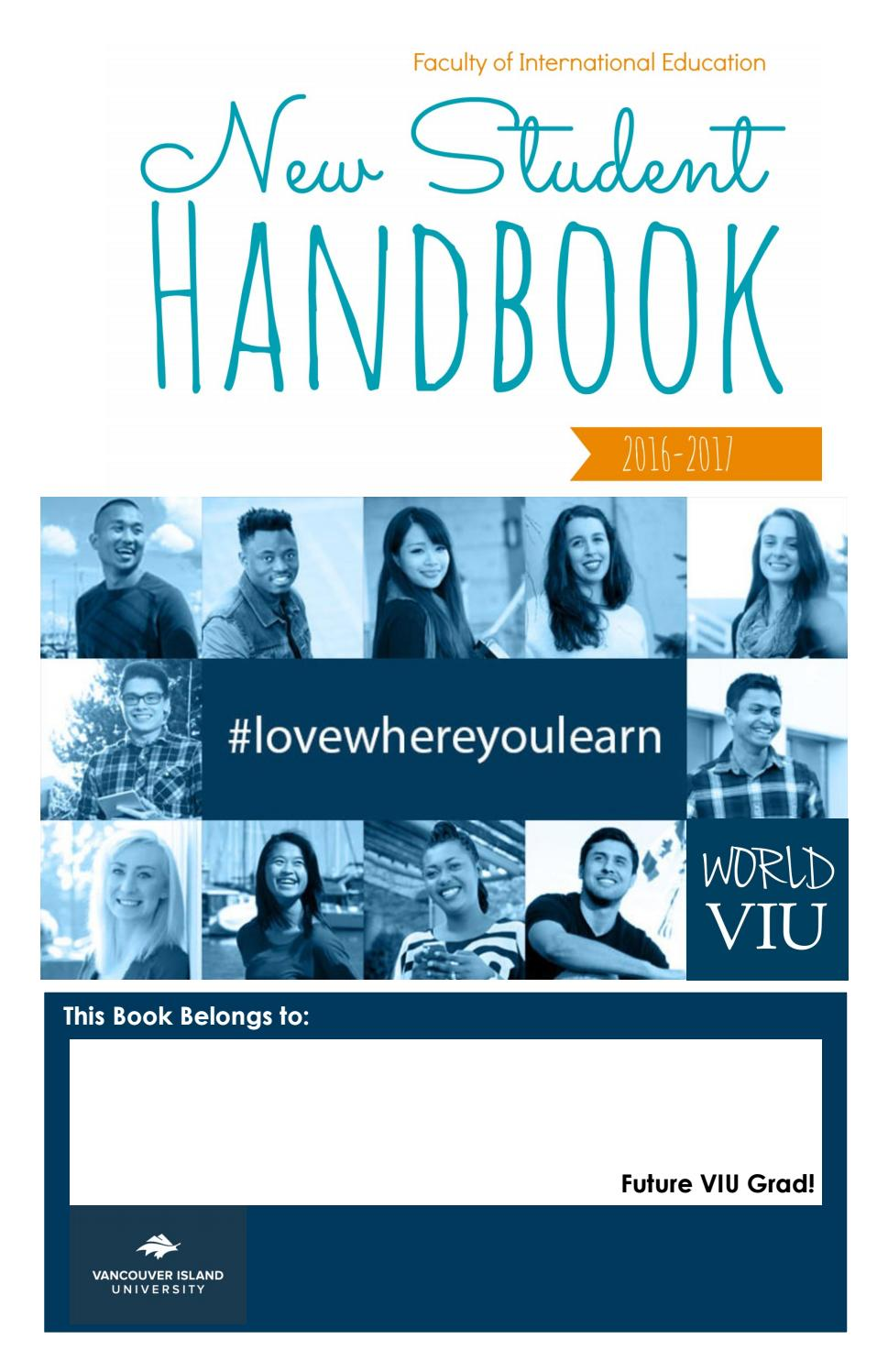 VIU International Student Handbook 2016-2017 by VIU Faculty