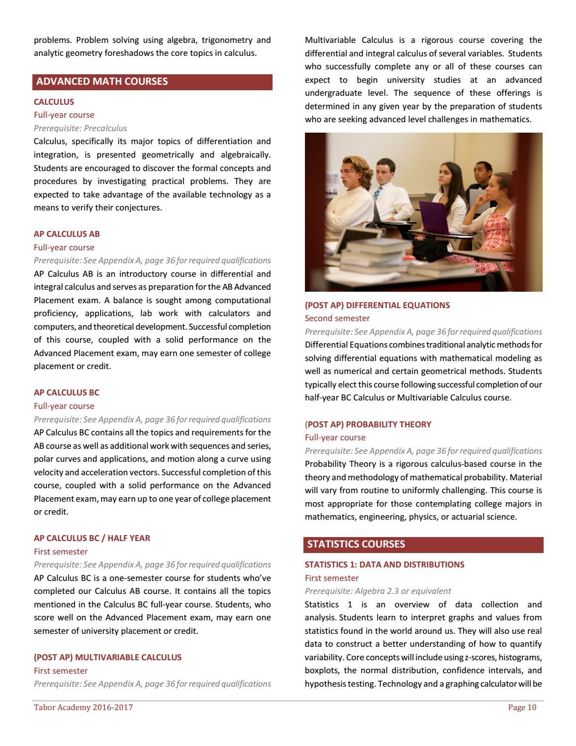 2016-17 Tabor Academy Course Catalog by Tabor Academy - issuu
