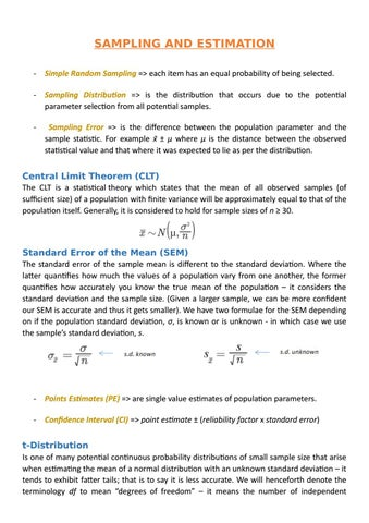 Cfa Level 1 Chapter 5 Sampling And Estimation By Richuk101 Issuu
