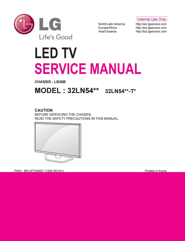 Manual de servio tv lg led 50ln5710 chassis la33b by portal da manual de servio tv led lg 32ln541b chassis lb36b pooptronica