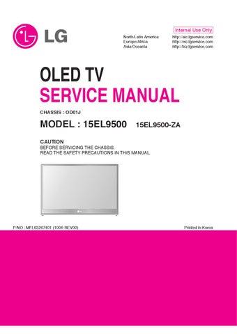 Manual De Servico Tv Lg 15el9500 Za Chassis Od01j By Portal Da Eletronica Issuu