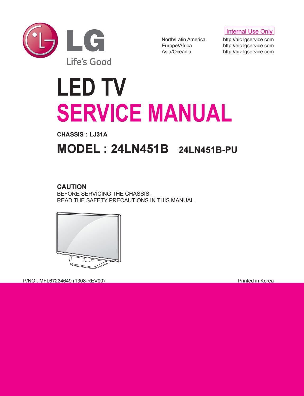 manual de servi o tv lg 24ln451b chassis lj31a by portal. Black Bedroom Furniture Sets. Home Design Ideas