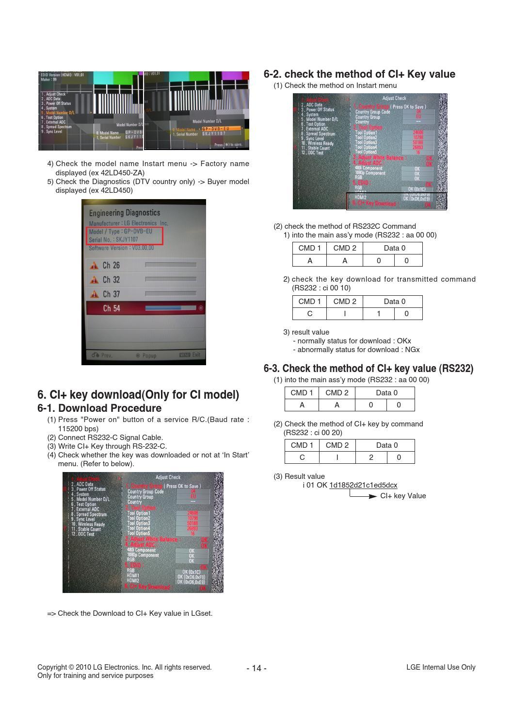 Manual de serviço tv lg 32ld450, 32ld460 e 32ld461c chassis lb01b by