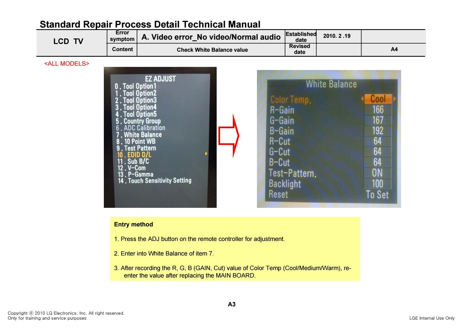 Manual de serviço tv led lcd lg 42le5500 chassis lt03e by