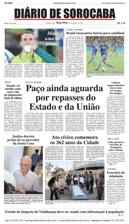 93c285696 Edição de 16 de agosto de 2016 by DIÁRIO DE SOROCABA - issuu
