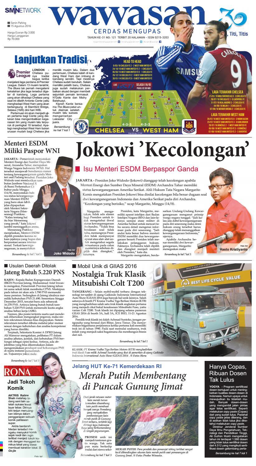 Wawasan 15 Agustus 2016 By Koran Pagi Issuu Produk Ukm Bumn Jus Durian Lite Kuning Omah Duren
