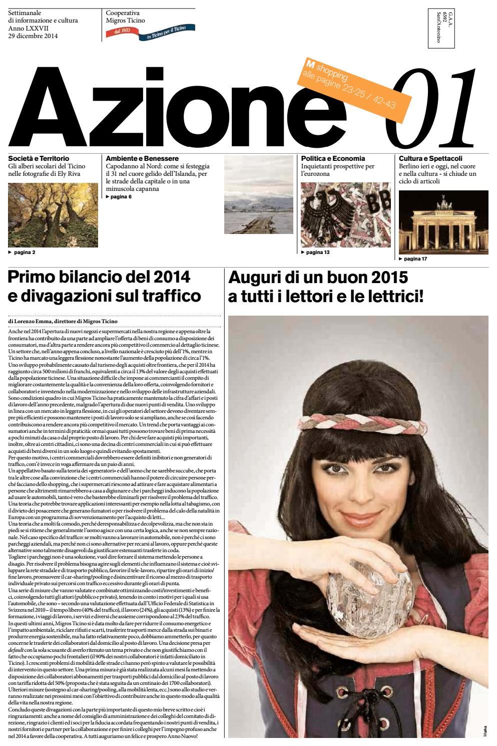 Azione 01 del 29 dicembre 2014 by Azione, Settimanale di Migros Ticino -  issuu f39eb2db00