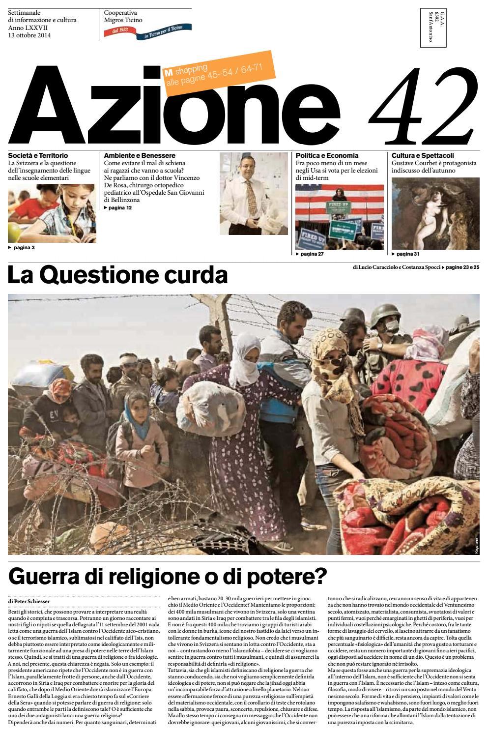 Azione 42 del 13 ottobre 2014 by Azione 16a376484